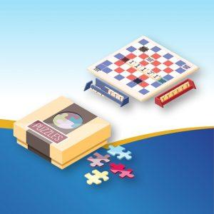 פאזל, משחקי זיכרון, משחקי התאמה, לוטו